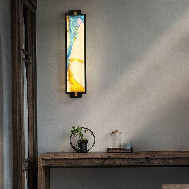 Фото домашние настенные светильники oufula креативные декоративные