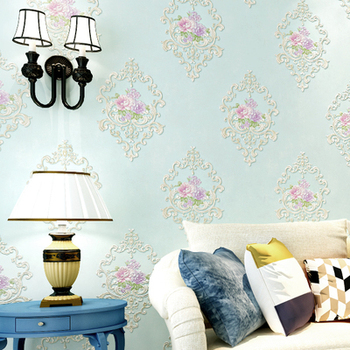 European living room background TV wall paperHigh quality rural floral warm romantic bedroom upscale beauty salon wallpaper