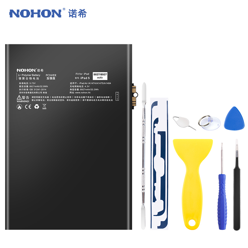 NOHON <font><b>Battery</b></font> For iPad 5 Air iPad5 A1474 A1475 A1484 8927mAh Replacement Bateria Lithium Polymer <font><b>Tablet</b></font> Batarya + Free Tools image