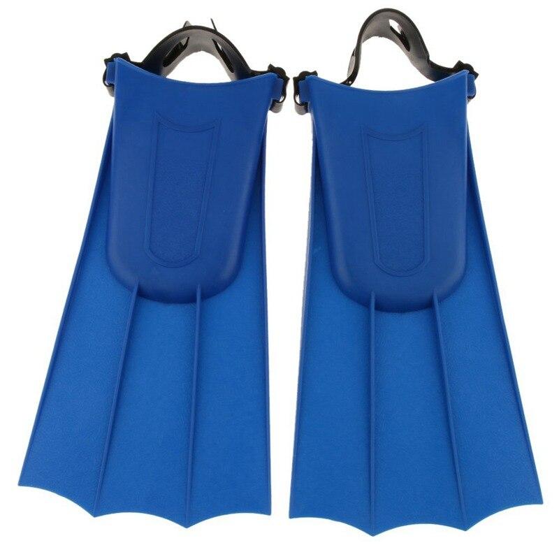 Kids Adult Adjustable Fins Swimming Diving Flippers - Blue, XL: 40-44