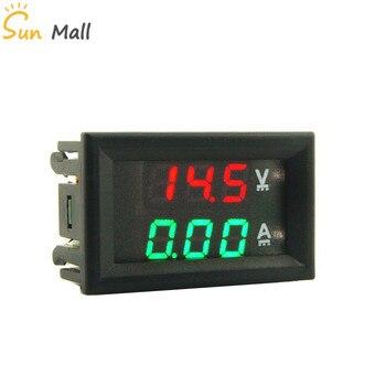 Voltmètre Ampèremètre double affichage digital DC 0-100V pour montage en façade.