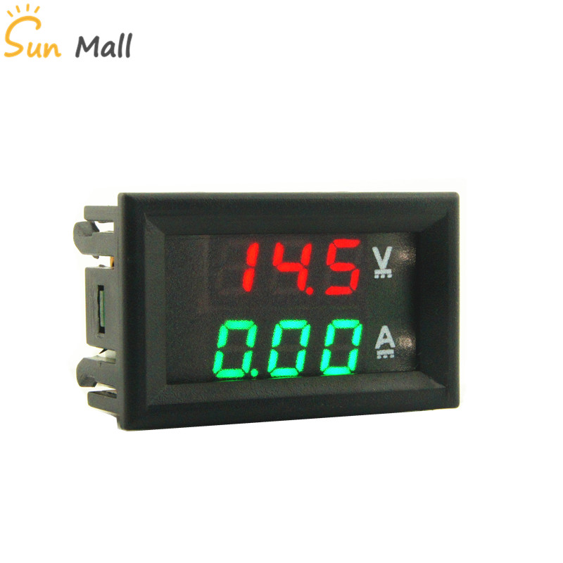 Mini Dual 0.28inch-LED-Digital-Voltmeter-Ammeter amperimetro DC 100V 1A 10A 50A 100A high-quality