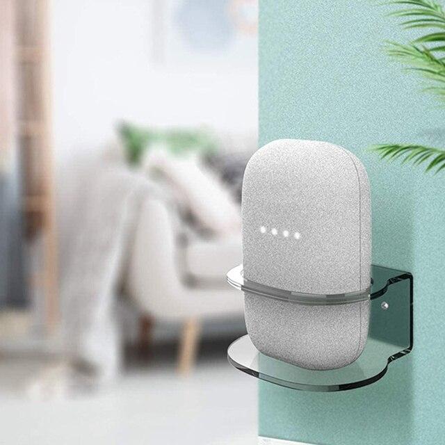 For Google Nest Audio Wall Mount Holder Acrylic Stand Bracket Space Saving Desktop Holder For Google Nest Audio Smart Speaker