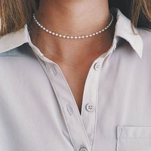 цена Sale Luxury Rhinestone Pearls Choker Necklace for Women Temperament Collar mujer Necklace Fashion Jewelry