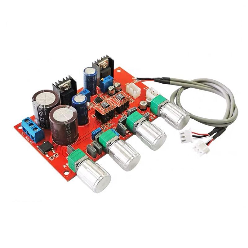 2 * op275 tone preamplificador placa de áudio equalizador preamp tone controle baixo pré amplificador servo potência lf353