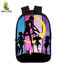 Sailor Moon 14.5 Inch School Backpack Bag for Boys Girls Teenager Waterproof Backpacks Travel Shoulder Bag Anime Laptop Bagpack