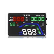 5.5\ Modern Hud GPS Speedometer Car Head Up Display Speeding Alarm Digital Speed Windshield Projector On-board Computer Compass