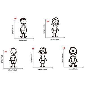 Image 2 - מותאם אישית קריקטורה בני משפחה רכב מדבקת מדבקות מקל רכב סטיילינג רכב קישוט