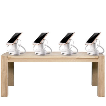 10 set mobile tablet security stand cellphone display holder burglar anti theft for retail with charging and alarm function mobile phone retail display alarm cell phone security display stand holders anti theft for iphone huawei samsung oppo charging