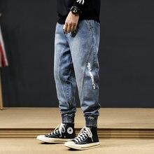 Джинсы мужские свободного покроя модные штаны карго из денима
