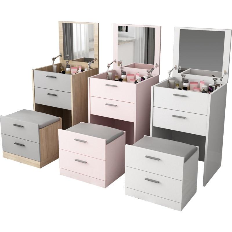Современный мини набор для туалета с выдвижным зеркалом Многофункциональный туалетный столик семейная мебель мандарная доска Сюрприз подарок - 2