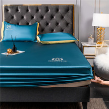 2 3 Pcs Washable Ice Silk Bed Sheet Cool Mat Set Summer fitted sheet Household Air