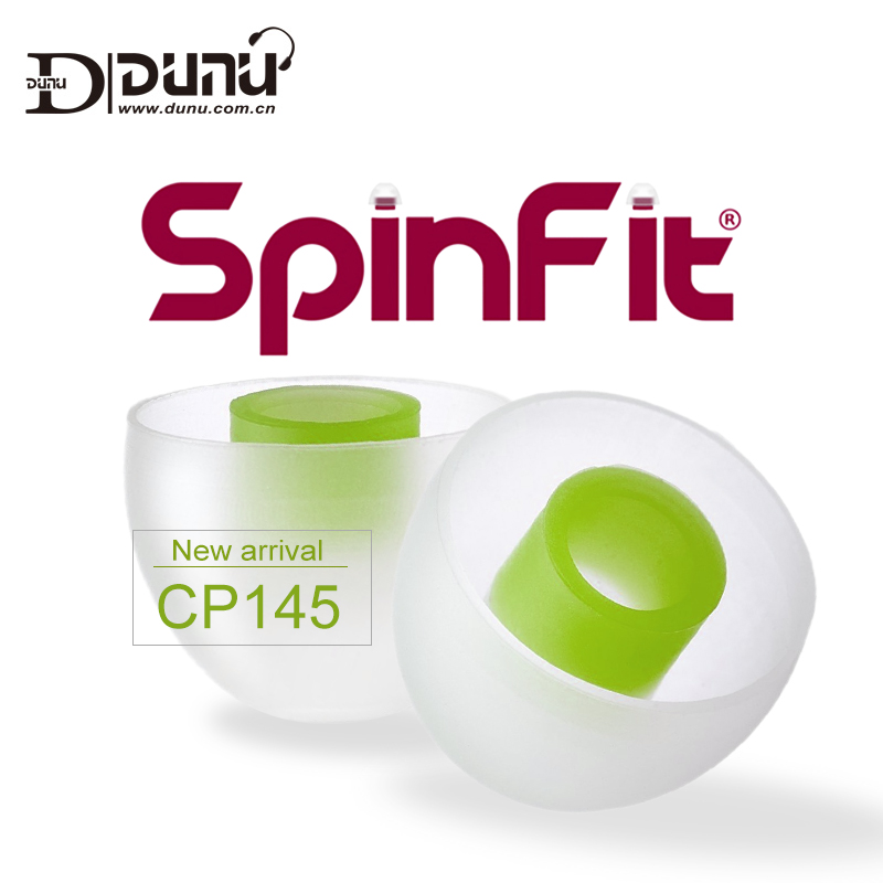 DUNU spinit-Punta de oreja de silicona con rotación libre de 360 grados, boquilla de diámetro de 4,5mm para auriculares DUNU/JVC, CP145, CP155, S, M, L, patentado