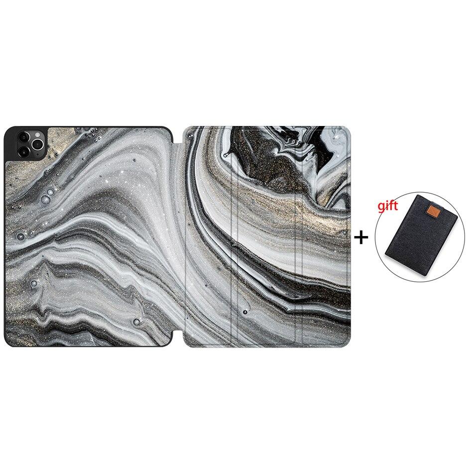 IPTPU07 Purple MTT 2020 Tablet Case For iPad Pro 12 9 4th Gen A2229 A2233 Soft TPU PU