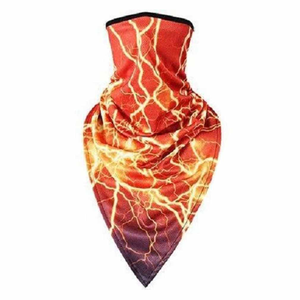 Letnia maska jeździecka ochrona szyi magiczny szalik męski i żeński krem przeciwsłoneczny z pałąkiem na głowę rower trójkątny szalik sprzęt zewnętrzny