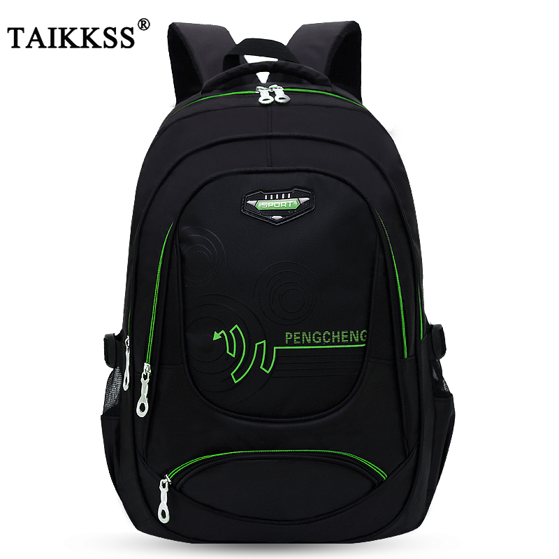 Taikkss Fashion Handsome Men's Solid Color Oxford Cloth Large-Capacity Travel Bag Multi-Function Leisure Backpack Student Bag