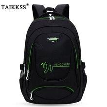Taikkss moda bonito masculino cor sólida oxford pano grande capacidade bolsa de viagem multi função lazer mochila estudante saco