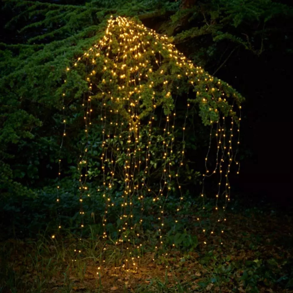 2M 600 LED Copper Wire Fairy String Lights LED Vines Branch Lights For Christmas Tree Party Decor With DC 12V 2A Adapter