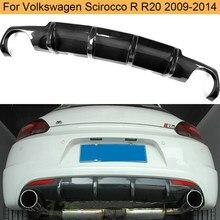 Lame de pare-choc arrière en plastique renforcé de fibres de carbone, accessoire pour voiture, Volkswagen Scirocco R R20 pare-chocs 2009 – 2016