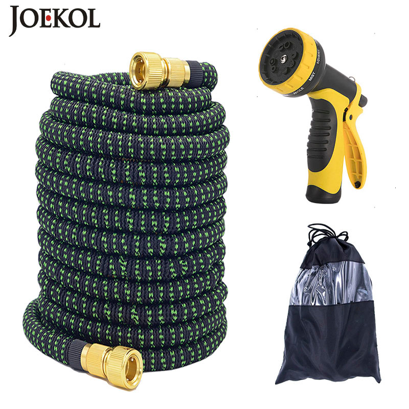 25FT-150FT Garden Hose Flexible Expandable Hose Garden Water Hose Magic Watering Hose Car Washing Hose Pipe With Spray Gun title=