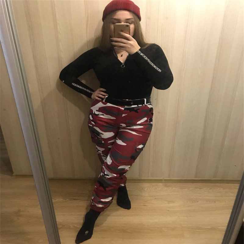 Hbc01a6371c804e948cba32cb1ef9b8851 Women's Camouflage Cargo Trousers Casual Pants Military Army Combat Camouflage Jeans Sexy Women Casual Colorful Camou Jeans
