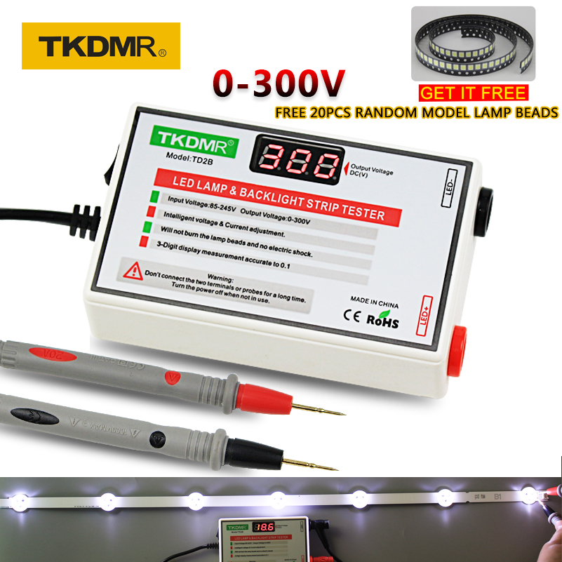 TKDMR NAUJAS LED testeris 0-300 V išvesties LED televizoriaus foninio apšvietimo testeris Universalios LED juostos karoliukai Bandymo įrankio matavimo prietaisai