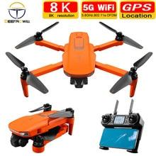 2020 NEUE ICAT7 Drone 4k 8k GPS 5G WiFi zwei achsen gimbal kamera bürstenlosen motor unterstützt TF karte flug für 25 min VS sg906 pro2