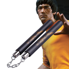 Bruce Lee Kung Fu Nunchakus With Dragon Sponge Nunchaku For Children Adult Martial Arts Wushu Training Fitness Workout Equiment jeet kune do book with dvd teaching for learning bruce lee s kung fu martial art
