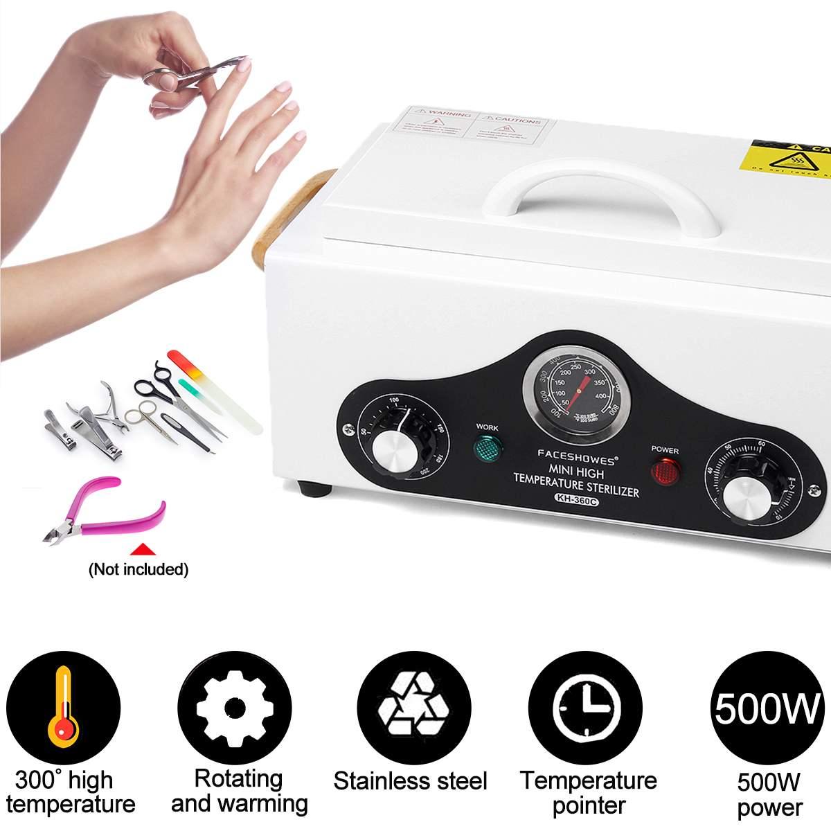 500W 300 Centigrade Box UV Sterilizer Box Nail Art Equipment Salon Sterilizing Tool Manicure Nail Tool Dry Heat Sterilizer