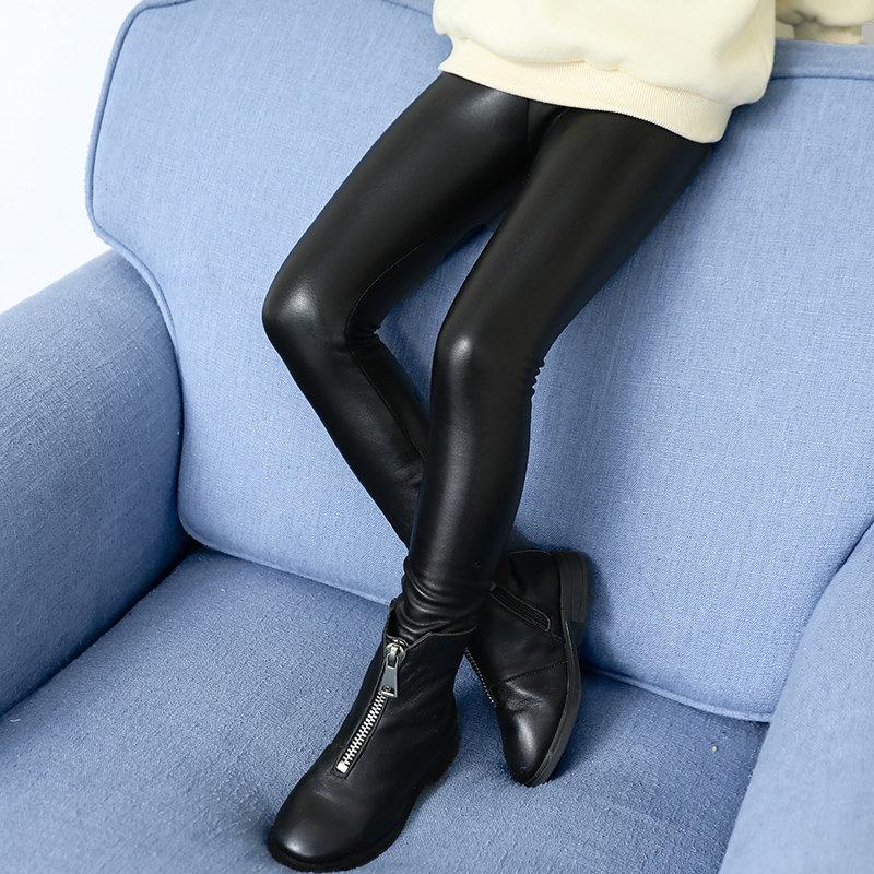 Korean Girl Warm Winter Leather Legings And Leggings For Kids Warm Leggins Girls Toddler Black Skinny Leggings For Teenagers