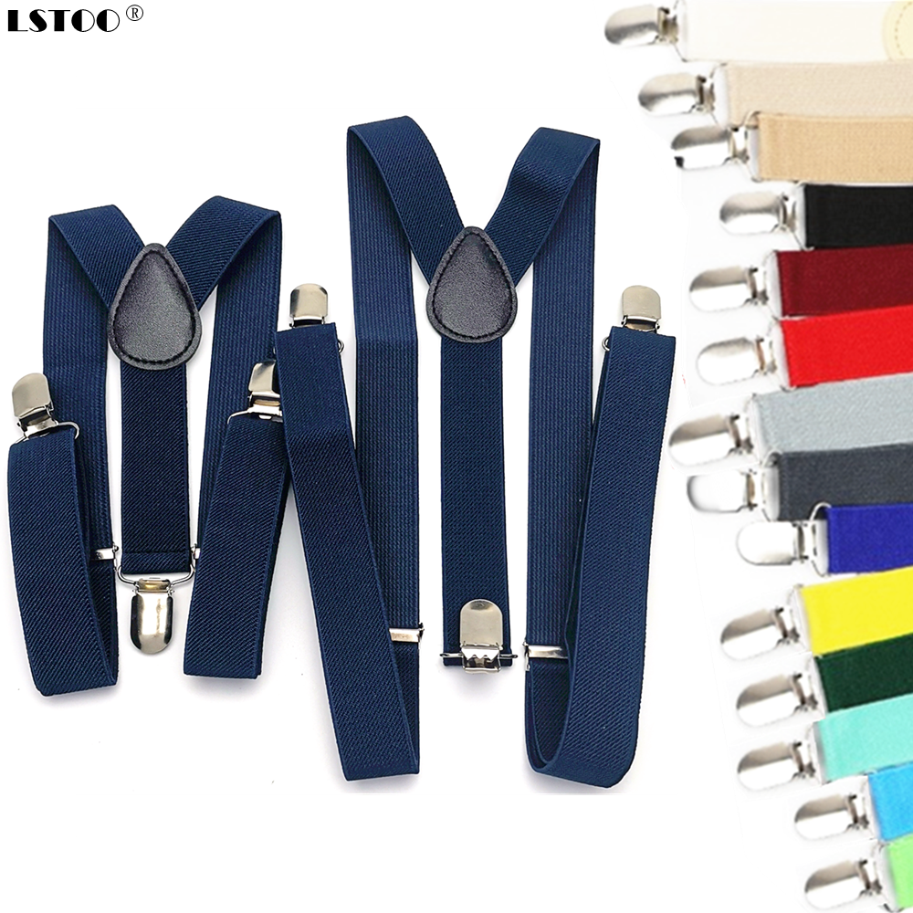 Parent-Kids Navy Blue Coffee Purple Color Suspenders Men Women Boys Girls Elastic Adjustable Kids Braces Unisex Accessories