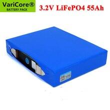 3.2V LiFePO4 55Ah bateria fosforan 55000mAh dla 4S 12V 24V 3C motocykl samochód baterie słoneczne światła uliczne modyfikacja nikiel
