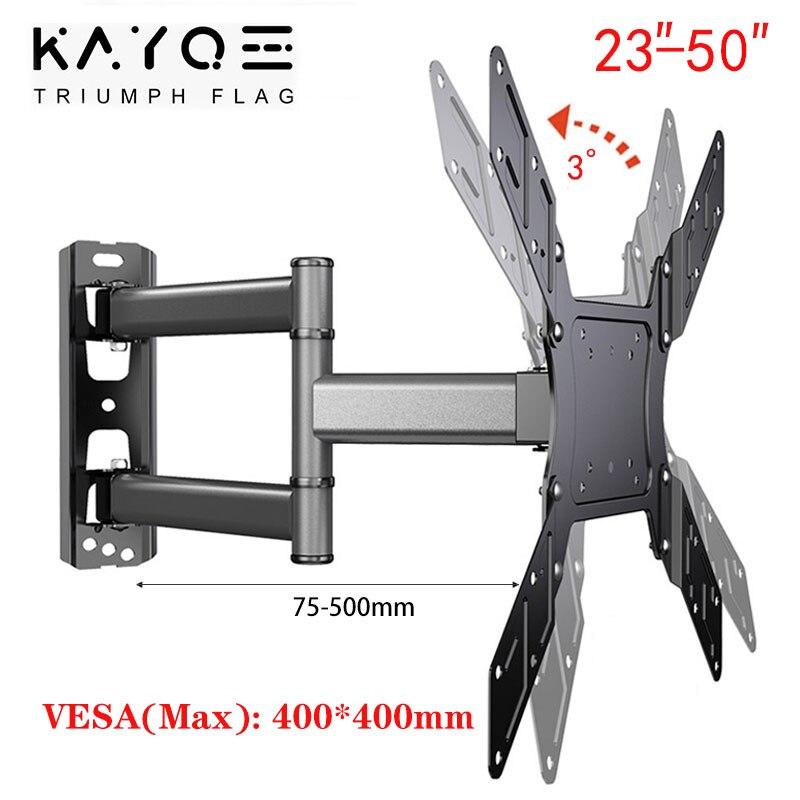KAYQEE TV Wall Mount Swivel Tilt 180 TV Bracket for 23-50
