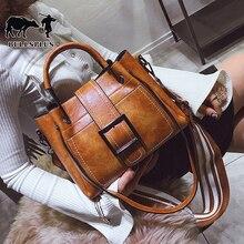 Fashion new women's large capacity handbag European and American Belt Buckle Shoulder Bag women's fashion bag Retro