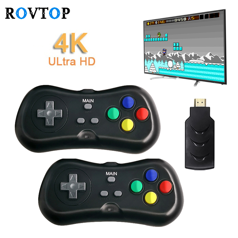 HDMI Video Game Console 638 Classic Games Home Entertainment With Game Controller Wireless HD Double Play Video Game Console Z45