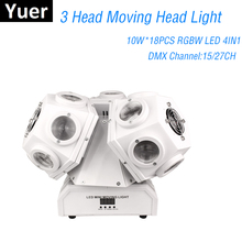 2020 Free Shipping 3 Heads Moving Head Light 18X10W RGBW 4IN1 Beam Light LED Triangle Lighting DMX512 DJ Stage Disco Laser Light free shipping 4 heads 60w led mini beam moving head light professional stage dj lighting dmx controller disco projector lasers