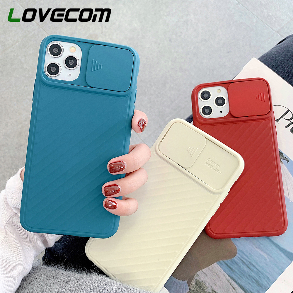 LOVECOM Camera Protection Plain Phone Case For IPhone 11 Pro Max XR XS Max 6 6S 7 8 Plus X Soft TPU Shockproof Back Cover Gift