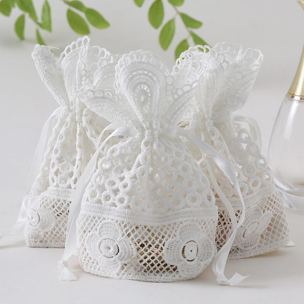 Bundle Pockets Drawstring Bag  Candy Bags Pearl Yarn Jewelry Bags Ring Stud Earrings Bracelet Necklace Storage Bag