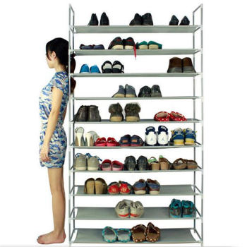 Cabinet Organizer Holder Layers Assemble Shoes Shelf Non-woven Fabric Shoe Racks Organizers Shoes Storage Shelf For Home Door