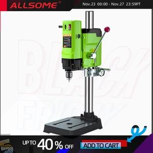 Image 1 - ALLSOME Mini perceuse détabli électrique, mandrin de perceuse de 1050W BG 5157 3 16mm