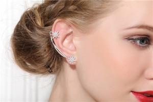 Image 4 - SLJELY 925 Sterling Silver 2 Colors Asymmetrical Star Fine Earrings Micro Cubic Zirconia Stones Women Luxury Brand Jewelry