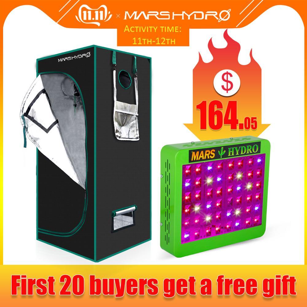 Mars Hydro Reflector 300W LED Grow Light Panel Hydro+70x70x160 Indoor Grow Tent Kit For Indoor Plants Growing Veg Flower