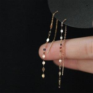 925 Sterling Silver Lips O Word Chain Tassel Stud Earrings Women 14k Gold Earrings Summer Beach Party Jewelry Accessories