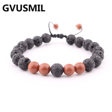 hot sell Products Wholesale Lava Stone Beads Natural Bracelet, Men Jewelry, Stretch Yoga Bracelet