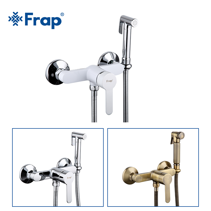 Frap High Quality Bidets Faucet Antique White Toilet Cleaner Set Shower Spray Bidet Sprayer Toilet Faucets Hygienic Shower