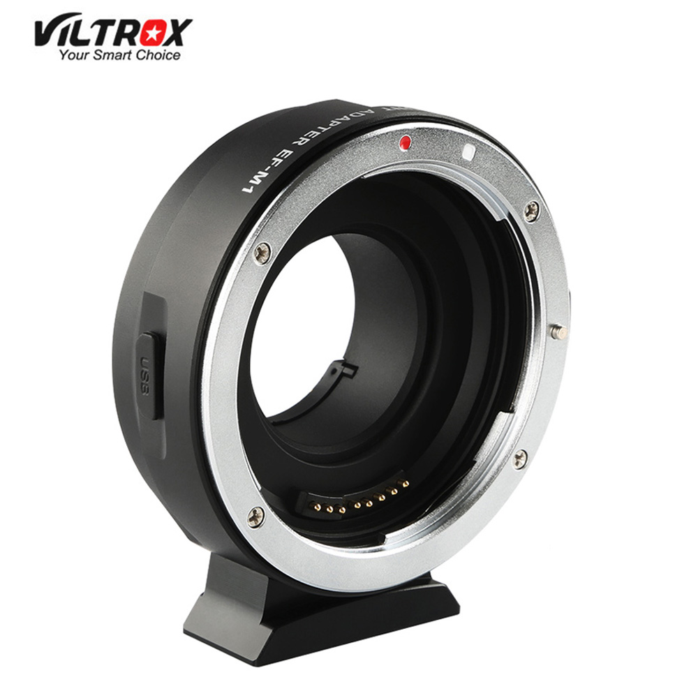 Viltrox EF-M1 Lens <font><b>Adapter</b></font> Ring Mount AF Auto Focus for <font><b>Canon</b></font> EF/EF-S Lens to M4/<font><b>3</b></font> <font><b>Micro</b></font> Four Thirds Camera for GH5/<font><b>4</b></font>/<font><b>3</b></font> Olympus image