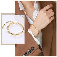 Bracelets chaîne serpent O Figaro pour femmes, bijoux de poignet Anti-allergie en acier inoxydable, longueur réglable, cadeau Chic pour elle