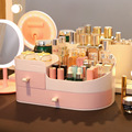 Makeup Organizer for Cosmetic Large Capacity Cosmetic Storage Box Organizer Desktop Jewelry Nail Polish Makeup Drawer Container/