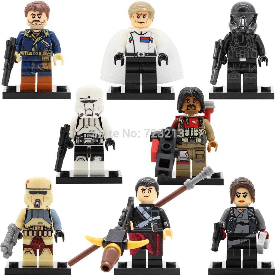 Single Sale Figure Erso Rogue One Orson Krennic Death Trooper Cassian Andor Building Blocks Set Model Toy X0139 Legoing