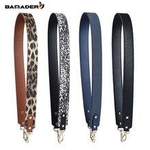 BAMADER Leather New Woman Wide Shoulder Strap Leopard White Bag Accessories Belt Fashion Ladies Handbag Diagonal Shoulder Strap